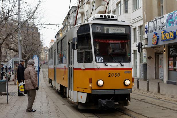 Трамвай в София
