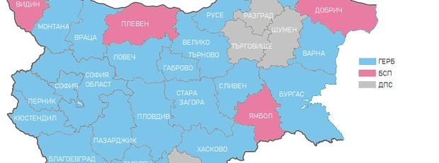 карта - избори