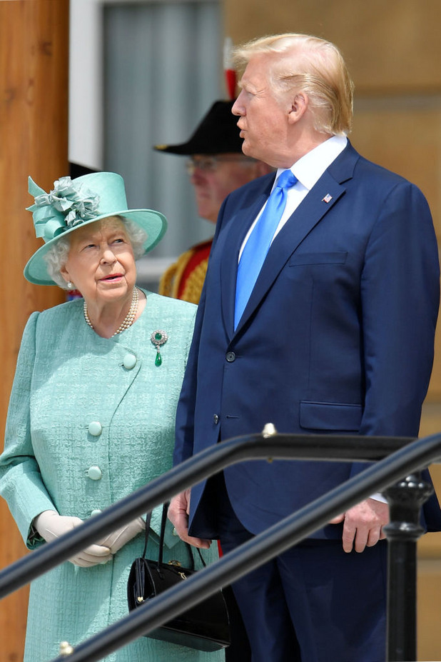 Доналд Тръмп и кралица Елизабет II