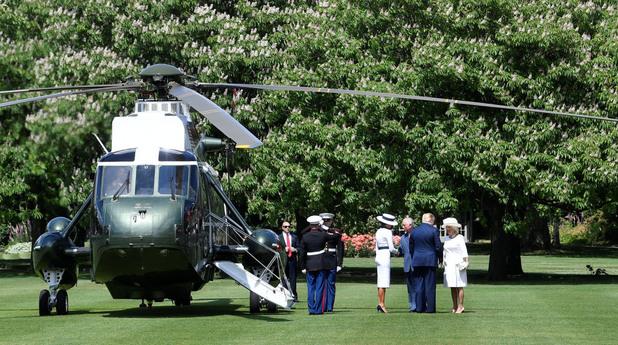 Доналд Тръмп в Бъкингамския дворец